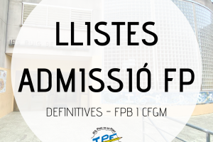 LLISTES DEFINITIVES FPB I GM