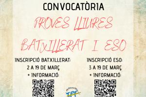 PROVES LLIURES BATX I ESO